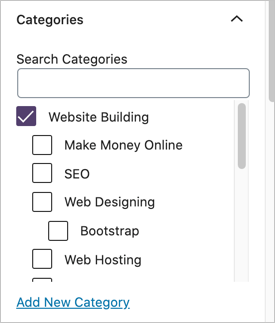 Assign Category in WordPress