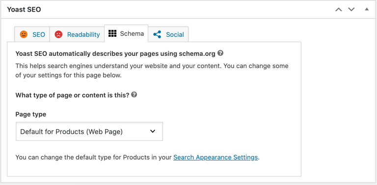 Assign Schema for Products with Yoast