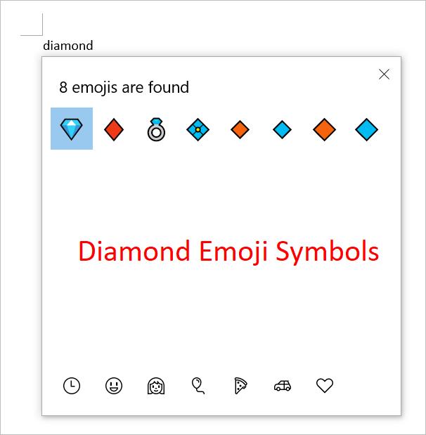 Diamond Emoji Symbols