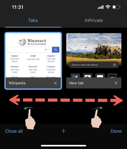 Edge Tabs in iPhone App