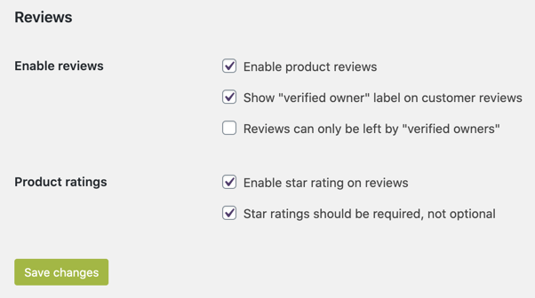 Enable Star Ratings Review in WooCommerce