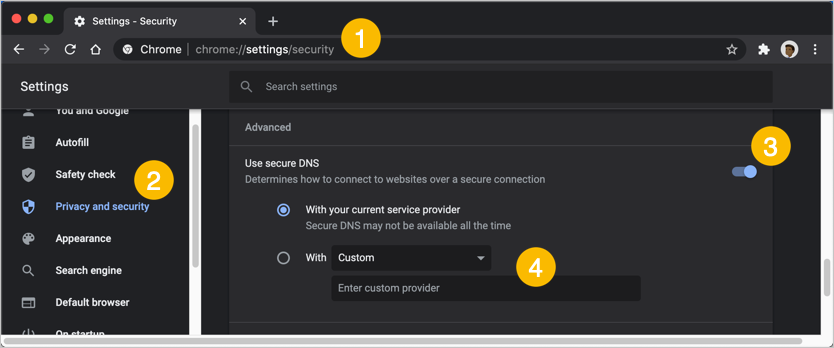 Enabling Secure DNS in Chrome