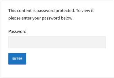 Enter Password to Unlock Page