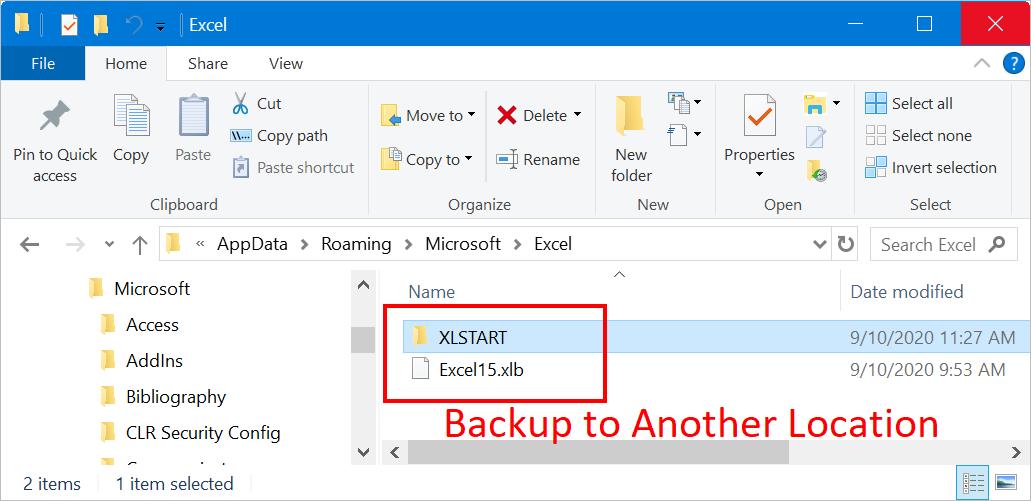 Excel Startup Folder