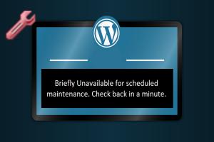 Fix Briefly Unavailable Error in WordPress
