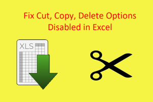 Fix Cut Disabled in Excel