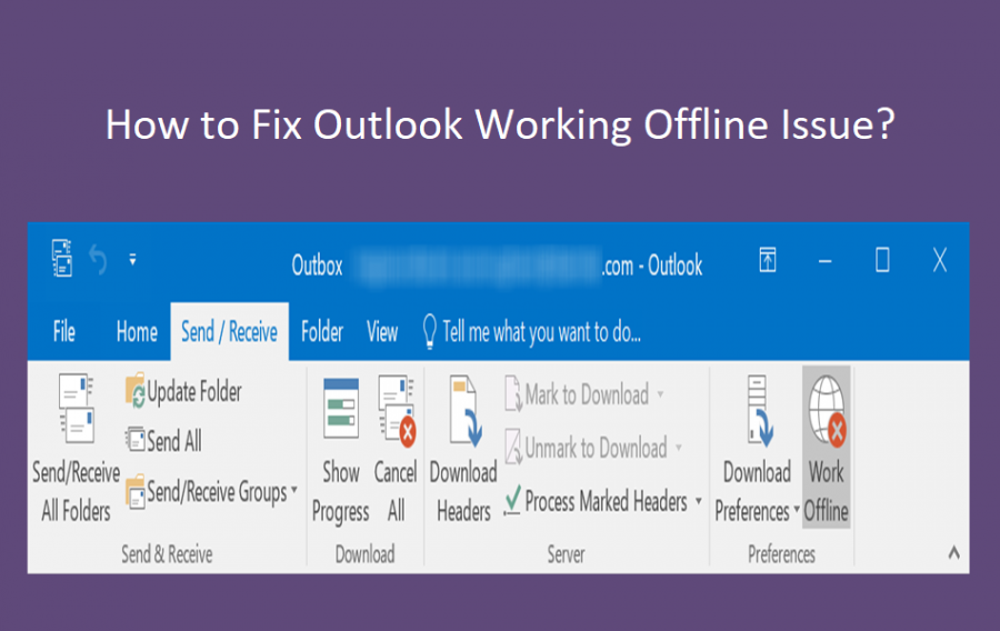 How to Fix Outlook Working Offline Issue?