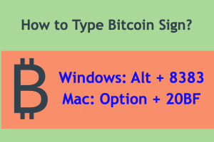 How to Type Bitcoin Sign?