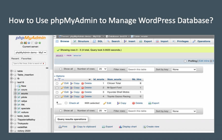 How to Use phpMyAdmin to Manage WordPress Database?