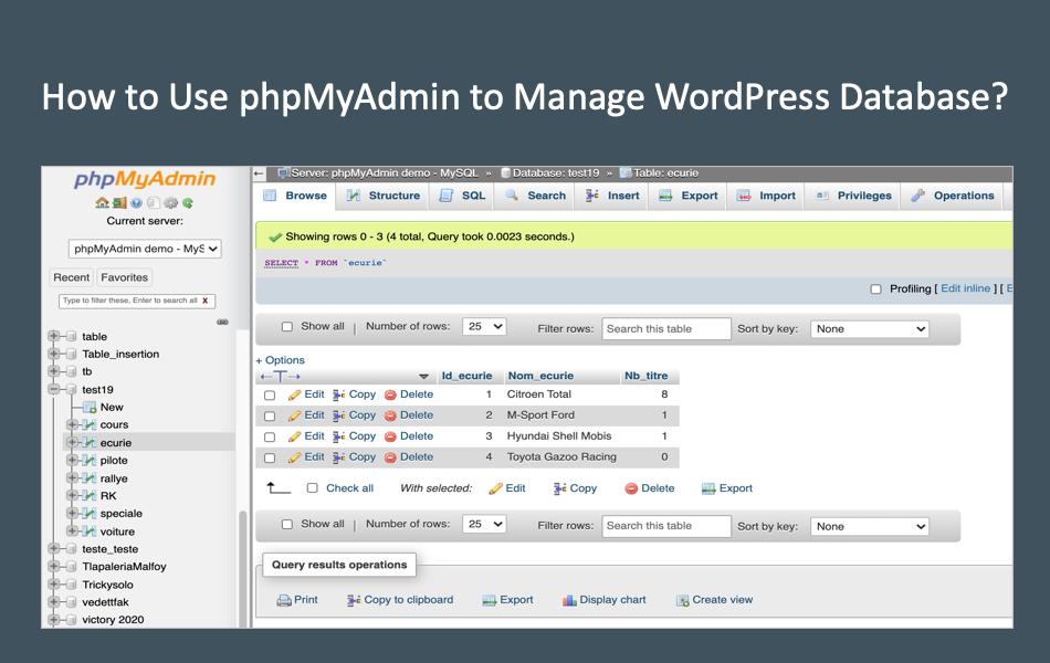 How to Use phpMyAdmin to Manage WordPress Database?