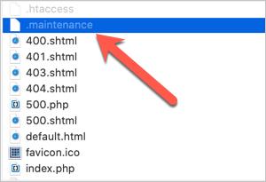 Maintenance Mode File in WordPress
