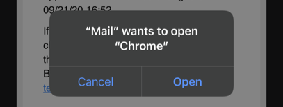 Open Link in Chrome