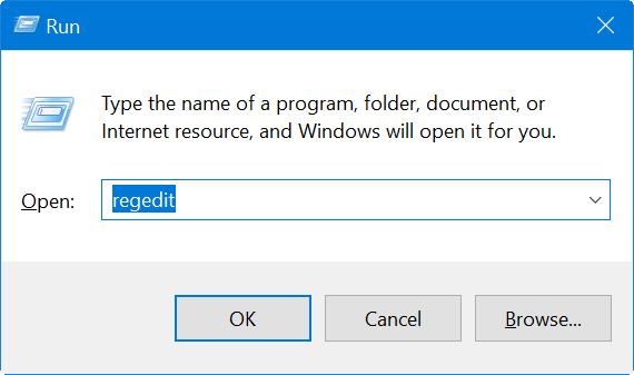 Open Registry Editor from Run Prompt