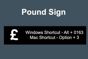 Pound Sign Keyboard Shortcuts