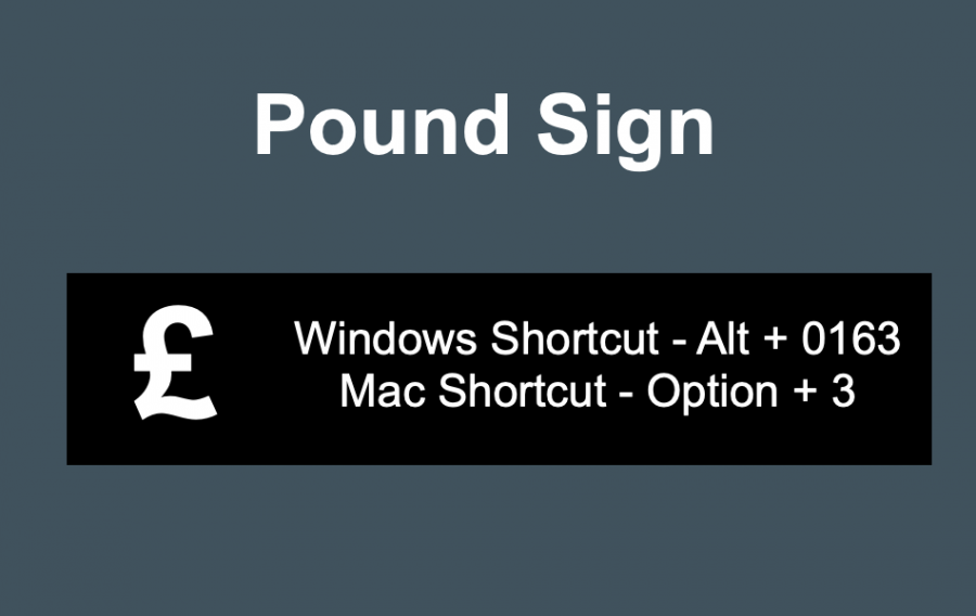 Pound Sign Keyboard Shortcuts
