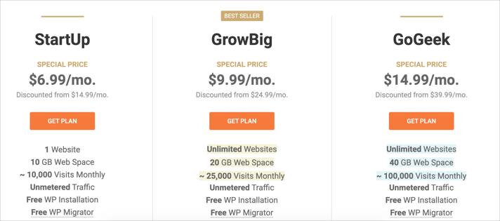 SiteGround WooCommerce Plans