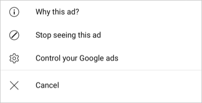 Stop Specific Ad
