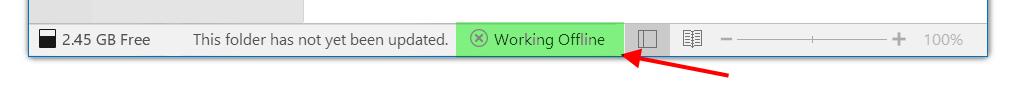 Working Offline in Outlook