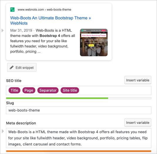 Yoast SEO Meta Box on Product Page