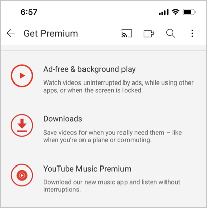 YouTube Premium Features