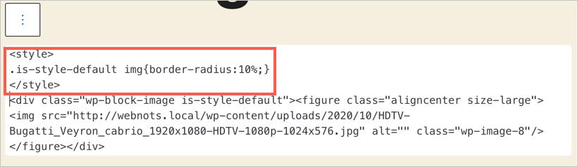 Adding Inline CSS