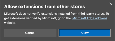 Allow Extension from Other Stores