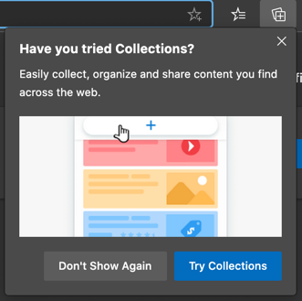 Collections in Edge Browser
