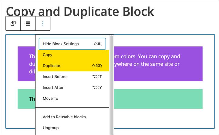 Copy or Duplicate Multiple Blocks