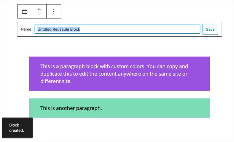 Create Reusable Block
