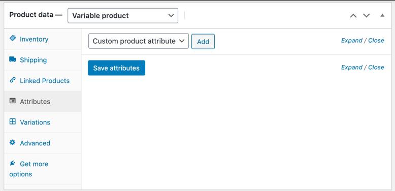 Создание переменного продукта в WooCommerce