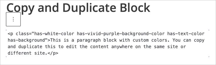 Edit Block Content as HTML