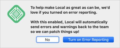 Enable Error Reporting