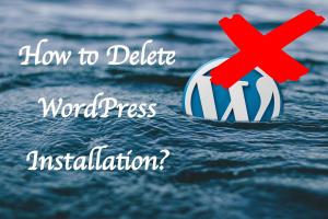 How to Delete WordPress Installation?