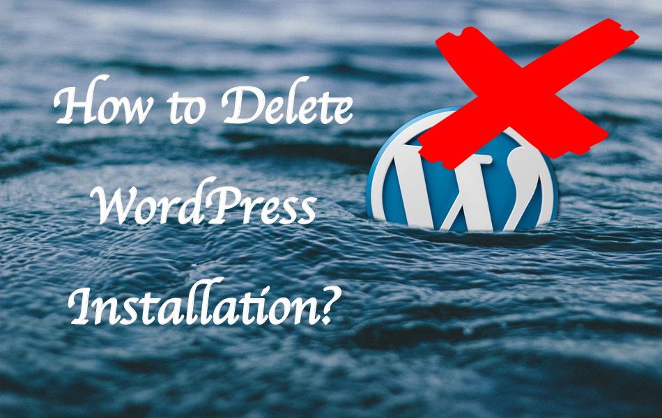 How to Delete WordPress Installation?