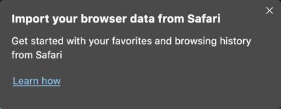 Import Data from Safari