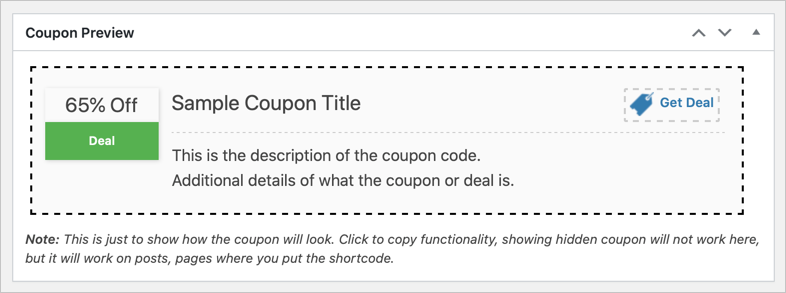 Preview Coupon or Deal