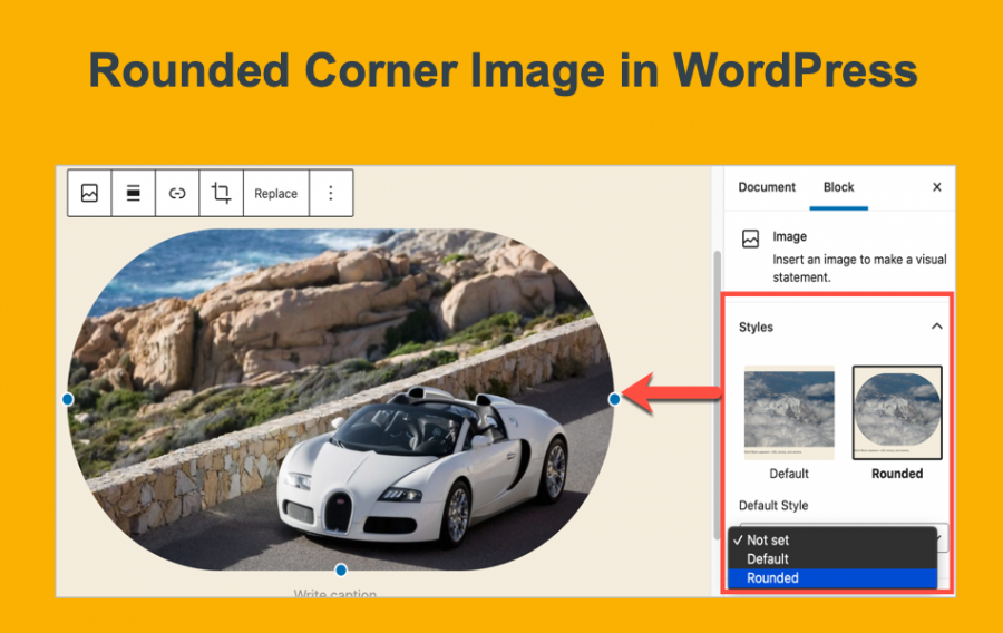 Rounded Corner Image in WordPress