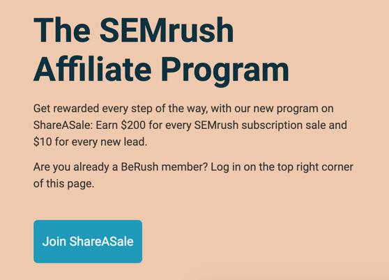 SEMrush Affiliate Earning Details