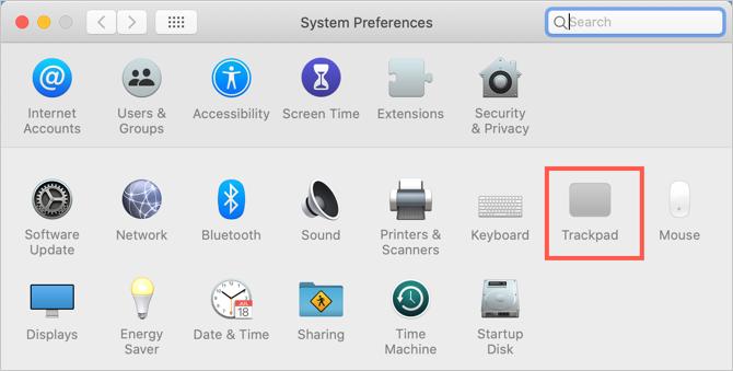 Trackpad Preferences