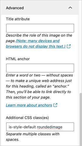 Use Custom CSS Class
