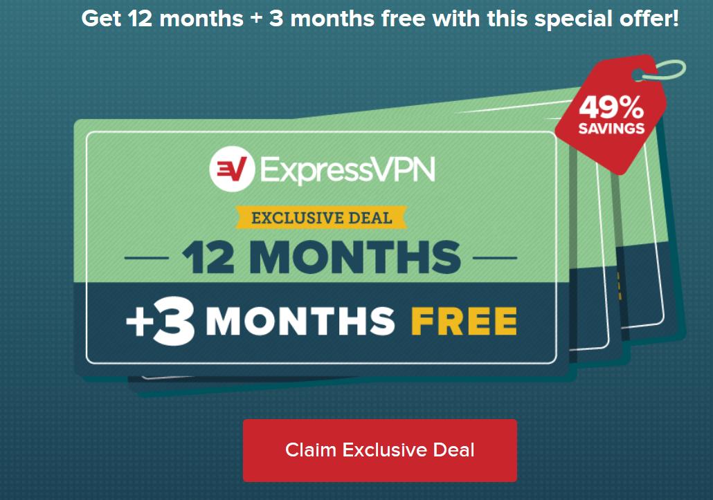 3 Months Free ExpressVPN Deal