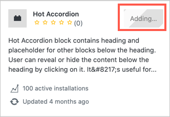 Block Adding to Your Site