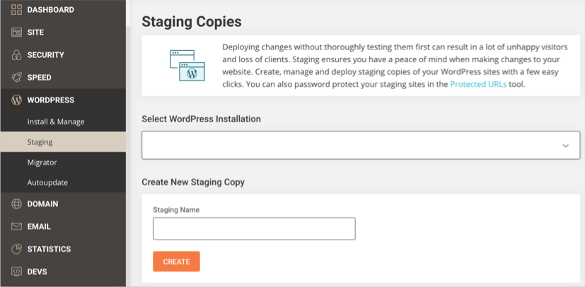 Create Staging Copy