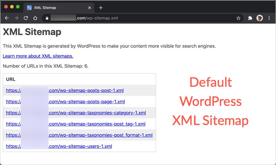 Default WordPress XML Sitemap