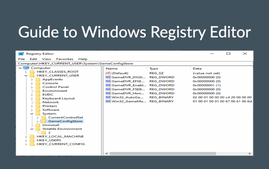 Guide to Windows Registry Editor