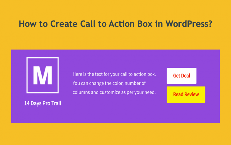 How to Create Call to Action Box in WordPress?
