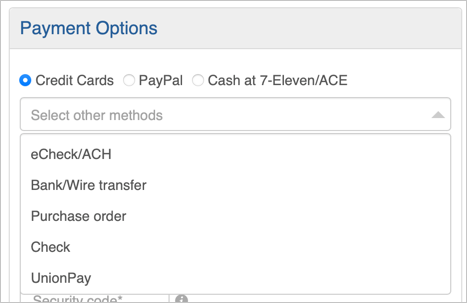 Mobirise Payment Options