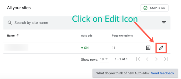 Modify Auto Ads Settings in AdSense