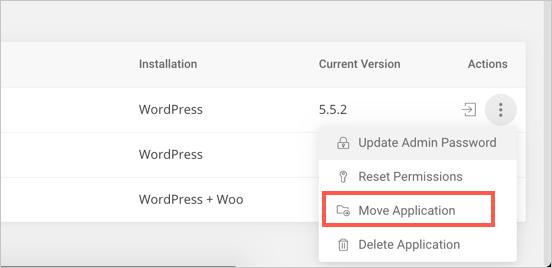 Move WordPress Installation