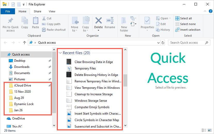 Быстрый доступ в проводнике Windows